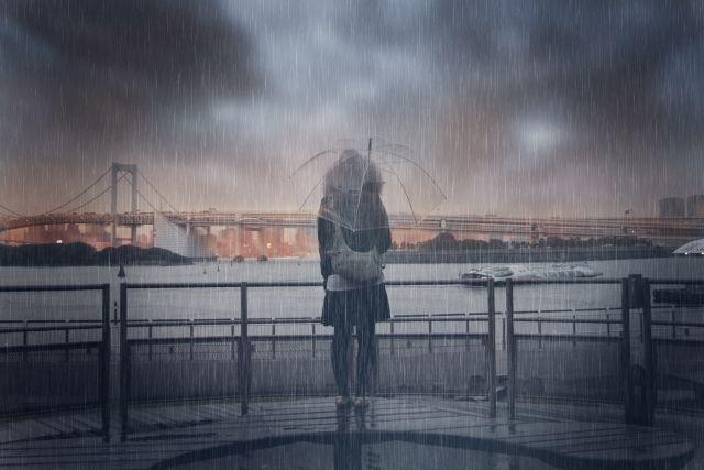 雨の中は湿度100%なのか?